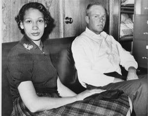 Mildred Loving and her husband Richard P Loving are shown in this January 26, 1965 file photograph