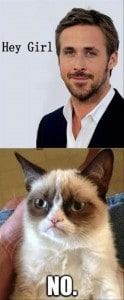 GRUMPY CAT HEY GIRL