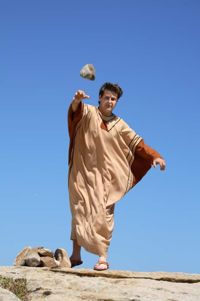http://www.dreamstime.com/stock-image-ancient-man-throwing-stone-image4028031