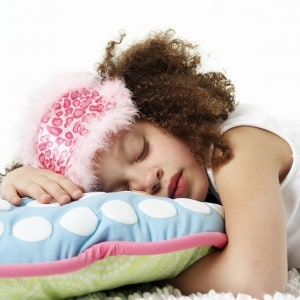 Young Girl Asleep on Pillow
