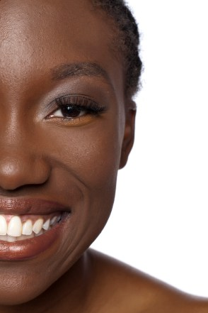 cropped black woman face