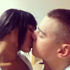 Chassitie and Josh Photo Kiss
