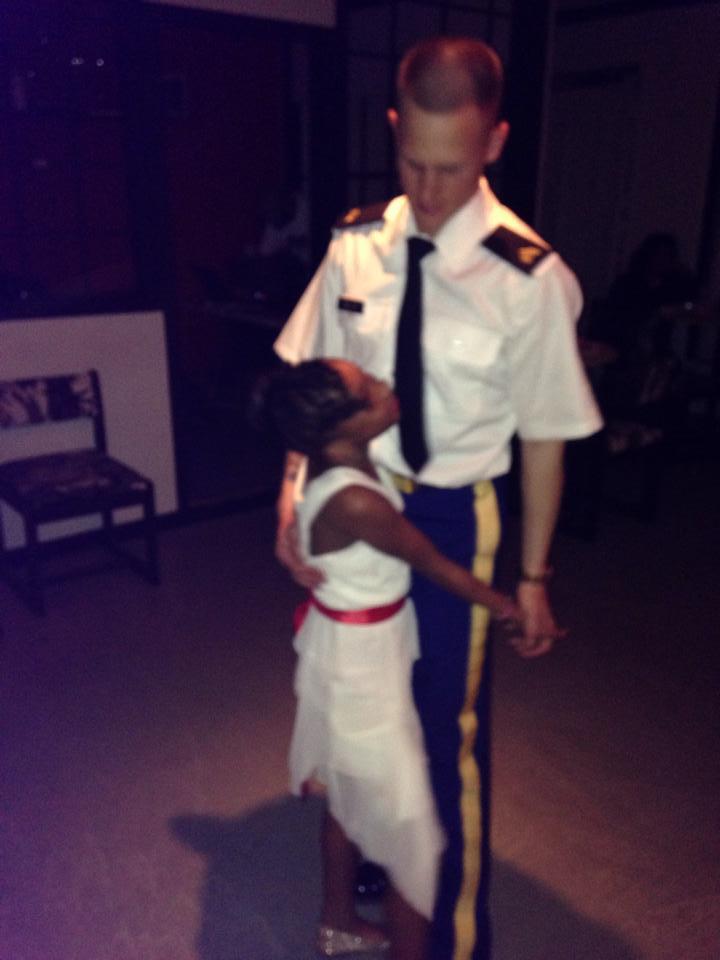 Jamaica and Brad Miller_daughter dance