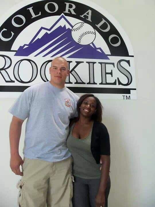 Our first baseball game together at the Denver Colorado Rockies stadium. We found that baseball was to boring for us.