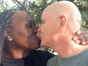 Karla and Don kiss