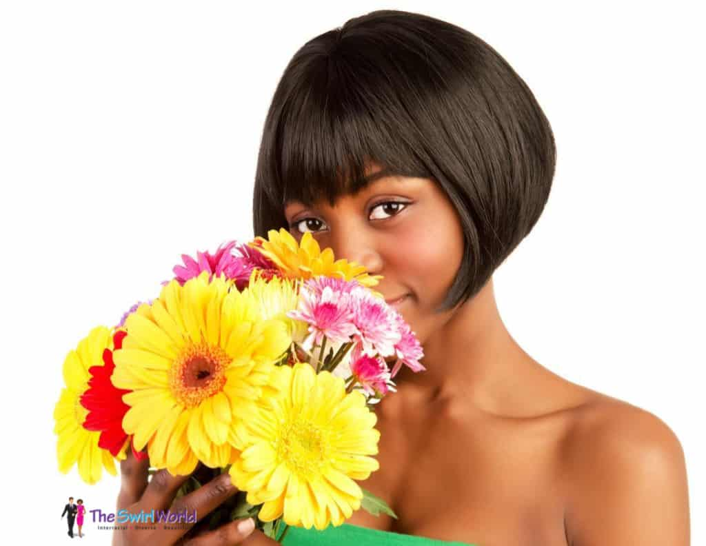 shareasimageBlackWomanWithFlowers